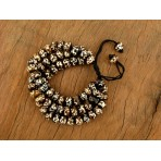 MB37 Bracelet Tibétain en Os de Buffle Symbole Om