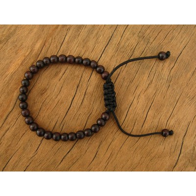 MB39 Bracelet Tibétain en Bois 6 mm