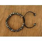 MB43 Bracelet Tibétain en Os de Buffle Symbole Om