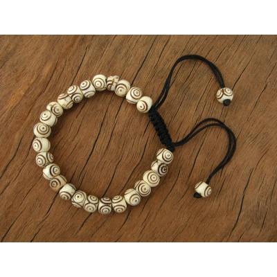 MB45 Bracelet Tibétain en Os de Buffle
