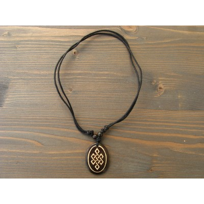 CT06 Collier Tibétain Noeud Sans Fin